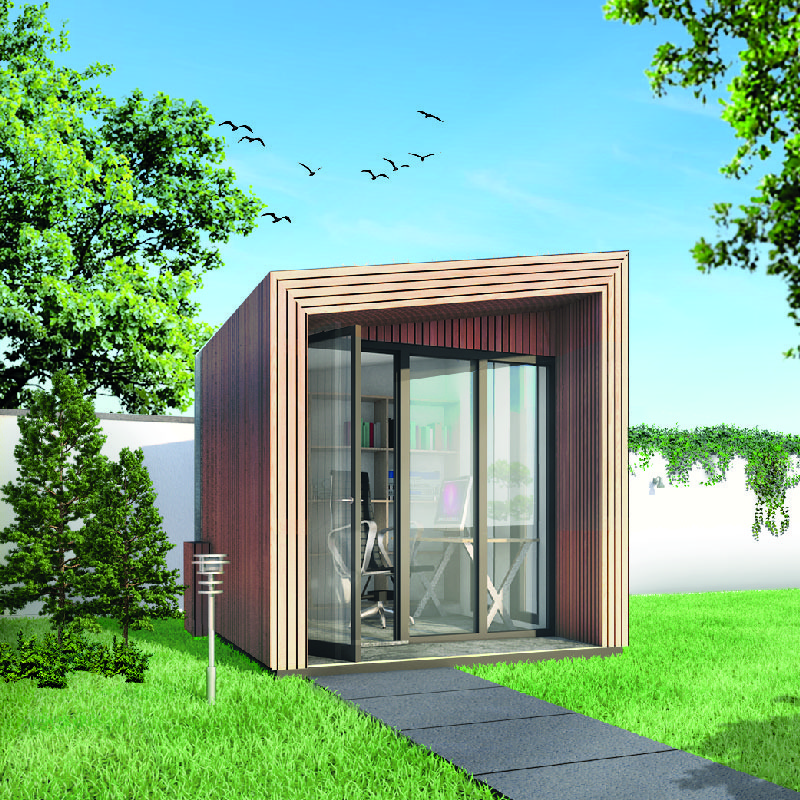 Opus pod - een tuinkantoor